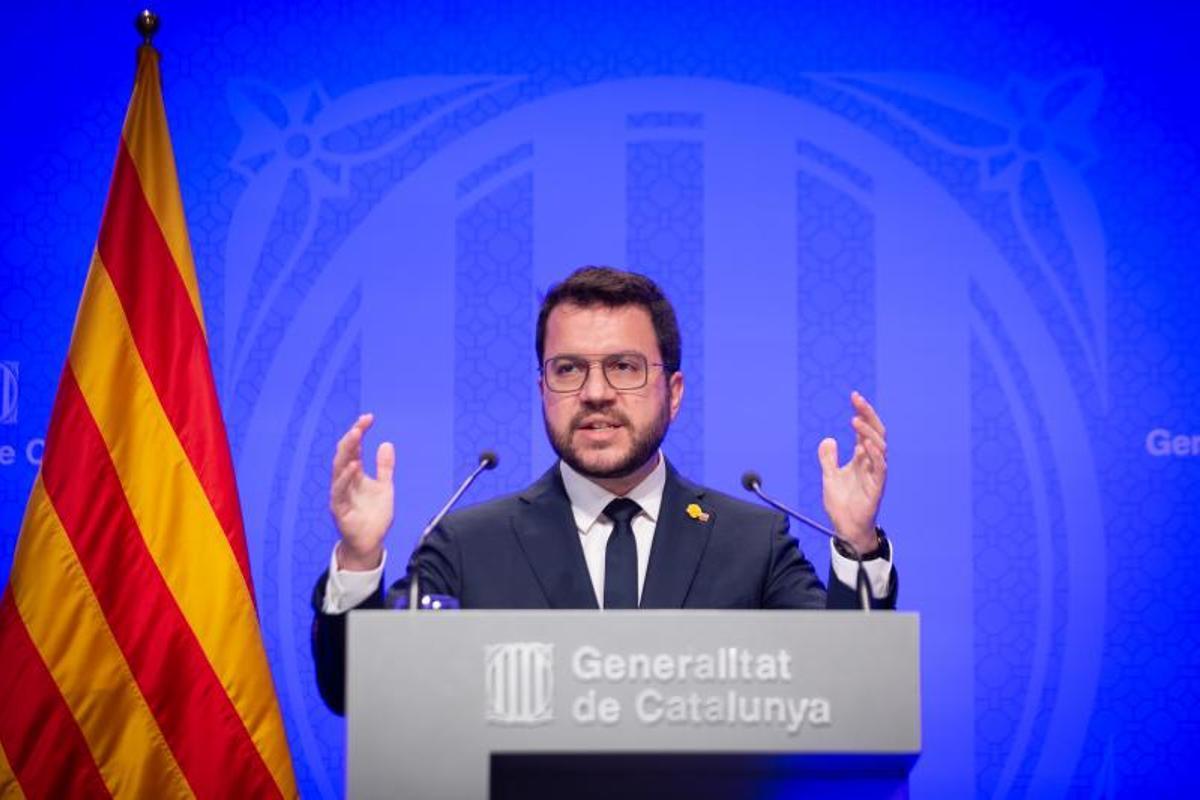 """Aragonès acusa al Gobierno de """"esconder su división"""" por El Prat"""