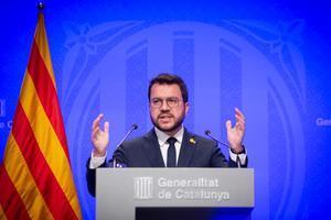 "Aragonès acusa al Gobierno de querer imponer un modelo ""desarrollista"""