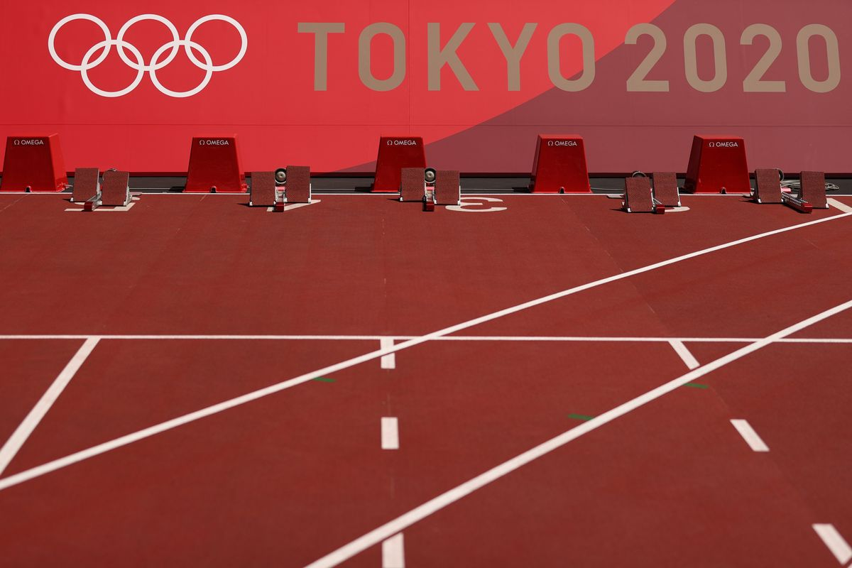 Aspecto de la pista del Estadio Olímpico de Tokio.