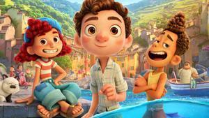 Un fotograma de 'Luca', de Pixar