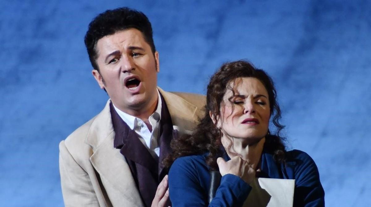 Piotr Beczala y Anna Caterina Antonacci, en un momento de 'Werther'.