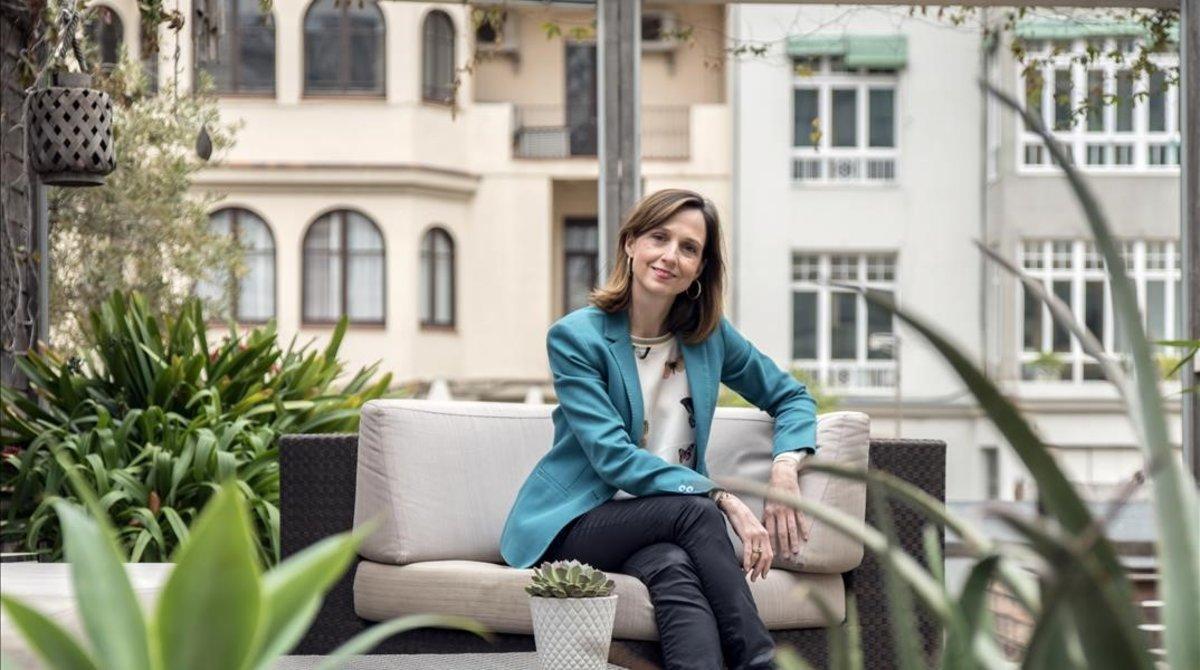 Arancha Ruiz, en su despacho de Barcelona.