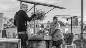 Cuarón, durante el rodaje de 'Roma'.