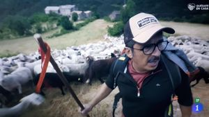 Buenafuente, en 'Entre ovejas' (TVE-1).