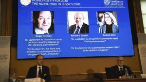 Penrose, Genzel i Ghezdel guanyen el Nobel de física 2020