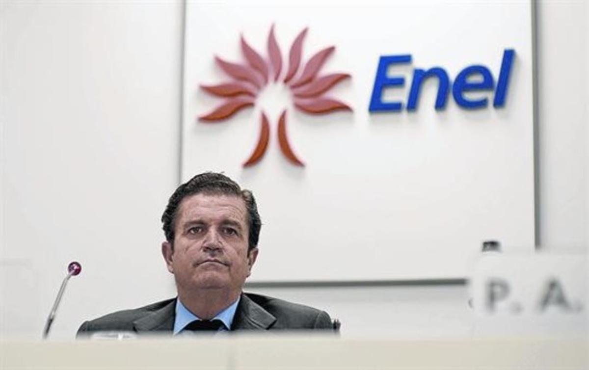 Borja Prado, durante la presentación de los planes de Enel en marzo pasado en Roma.