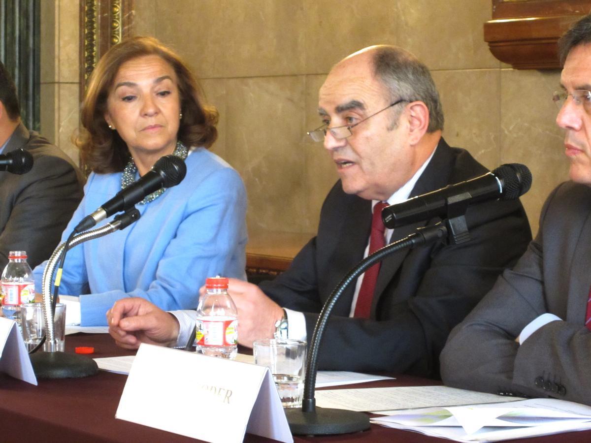 Josep Bombardó en un acto celebrado en la sede del Gremio de Fabricantes de Sabadell en 2014