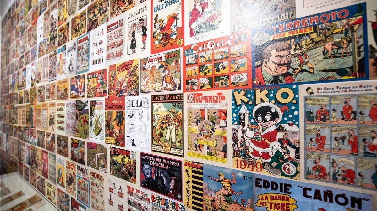 Interior del nuevo museo del cómic, que abre sus puertas en Sant Cugat.