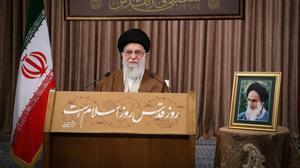 El ayatolá Alí Jamenei durante su discurso.