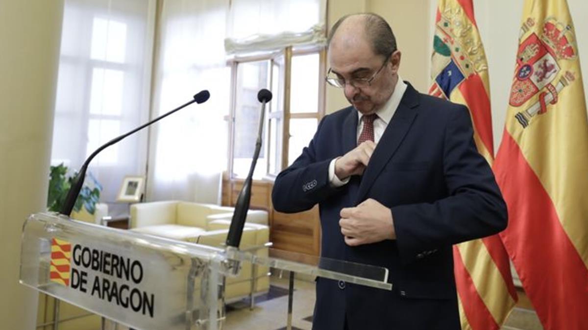 El presidente de Aragón, Javier Lambán, anuncia que padece cáncer de colon.