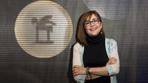 La periodista Rosa Badia, en las instalaciones de Ràdio Barcelona.