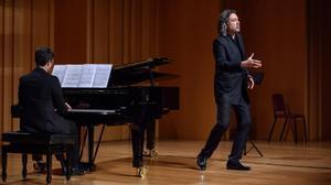 David Alegret y Daniel Blanch, piano, en el concierto dedicado a Joan Manén
