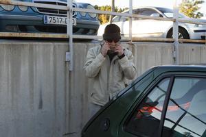 El loco del chándal saliendo de la cárcel de Can Brians 2, en 2013