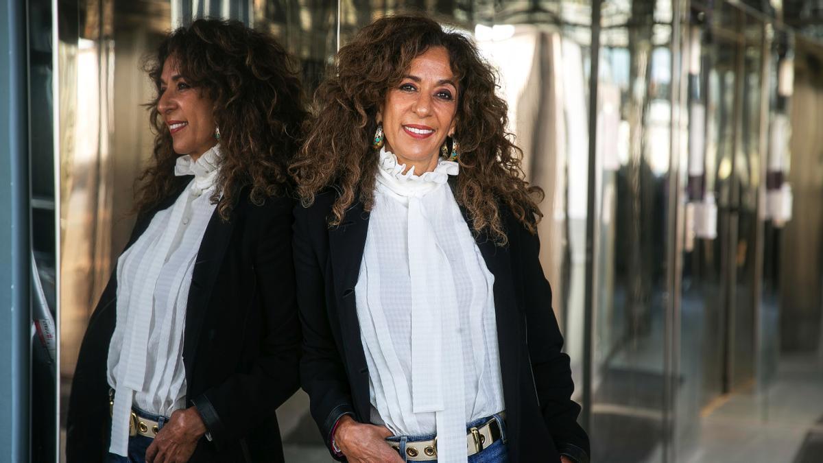 Rosario Flores, en un hotel de Barcelona, el pasado abril.