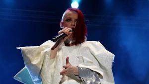 Shirley Manson, cantante de Garbage,en un momento del concierto en elCruïlla.