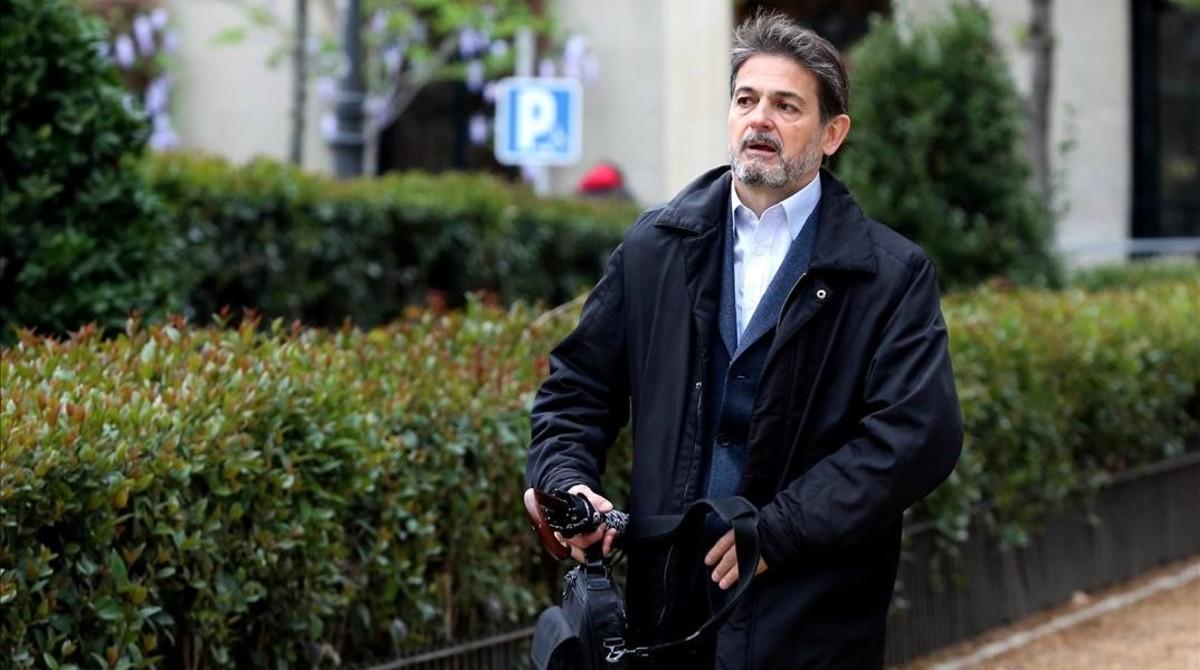Oriol Pujol a su llegada a la Audiencia Nacional para declarar ante el juez José de la Mata.