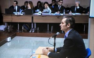 Urdangarin responde las preguntas del fiscal anticorrupción Pedro Horrach, en el 2016