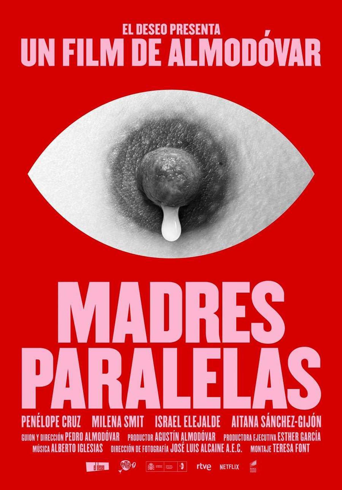 Almodóvar publica con polémica el cartel de 'Madres paralelas', su nueva película
