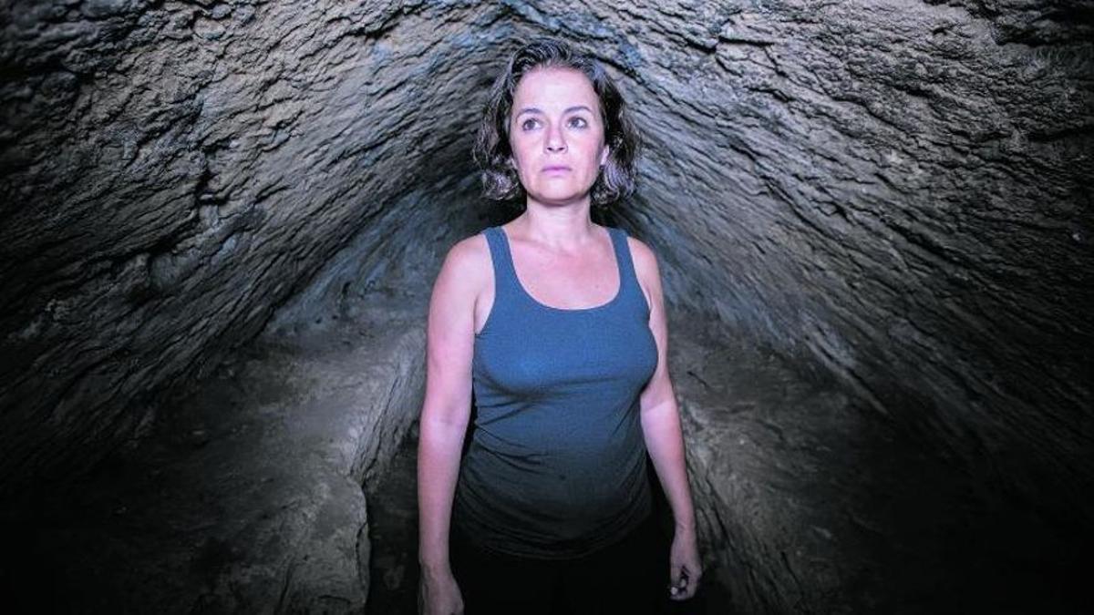 Aina de Cos, en una imagen de archivo en la cueva de Son Caulelles.