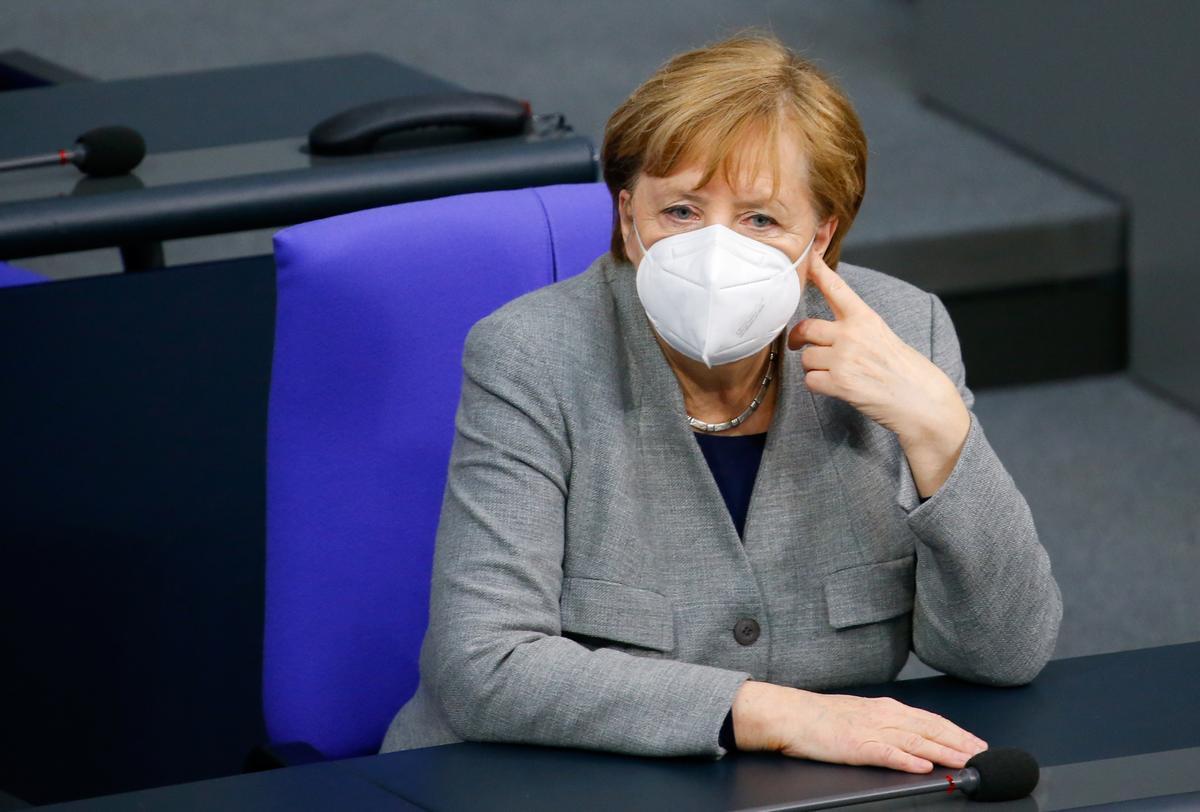 Angela Merkel en una sesión del Bundestag ayer miércoles.