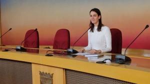 La portavoz de Más Madrid en el Ayuntamiento, Rita Maestre, durante una rueda de prensa.