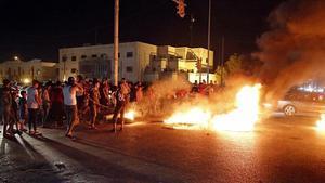 Protesta en la ciudad de Basora, en el sur de Irak.