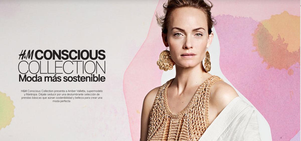 Amber Valleta es la protagonista de la nueva campaña para esta primavera de H&M, basada en la moda sostenible.