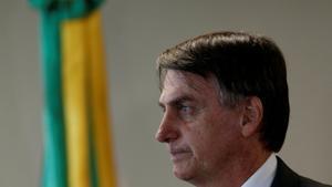 El presidente electo Jair Bolsonaro en un encuentro del Tribunal Superior del Trabajo en Brasilia