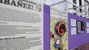 Uno de los paneles de la exposiciónde homenaje a Ibáñez en el Salón del Cómic.