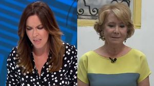 Esperanza Aguirre, emocionada, li confessa a Mamen Mendizábal que el seu gos Pecas va morir atropellat
