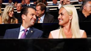 Donald Trump Jr. y su mujer, Vanessa, en una imagen de archivo, en Cleveland (Ohio), en el 2016.