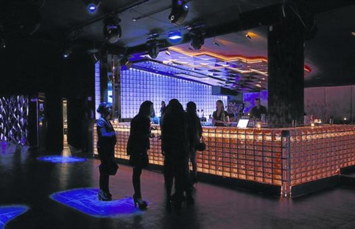 La discoteca Bling Bling, en la calle de Tuset de Barcelona.