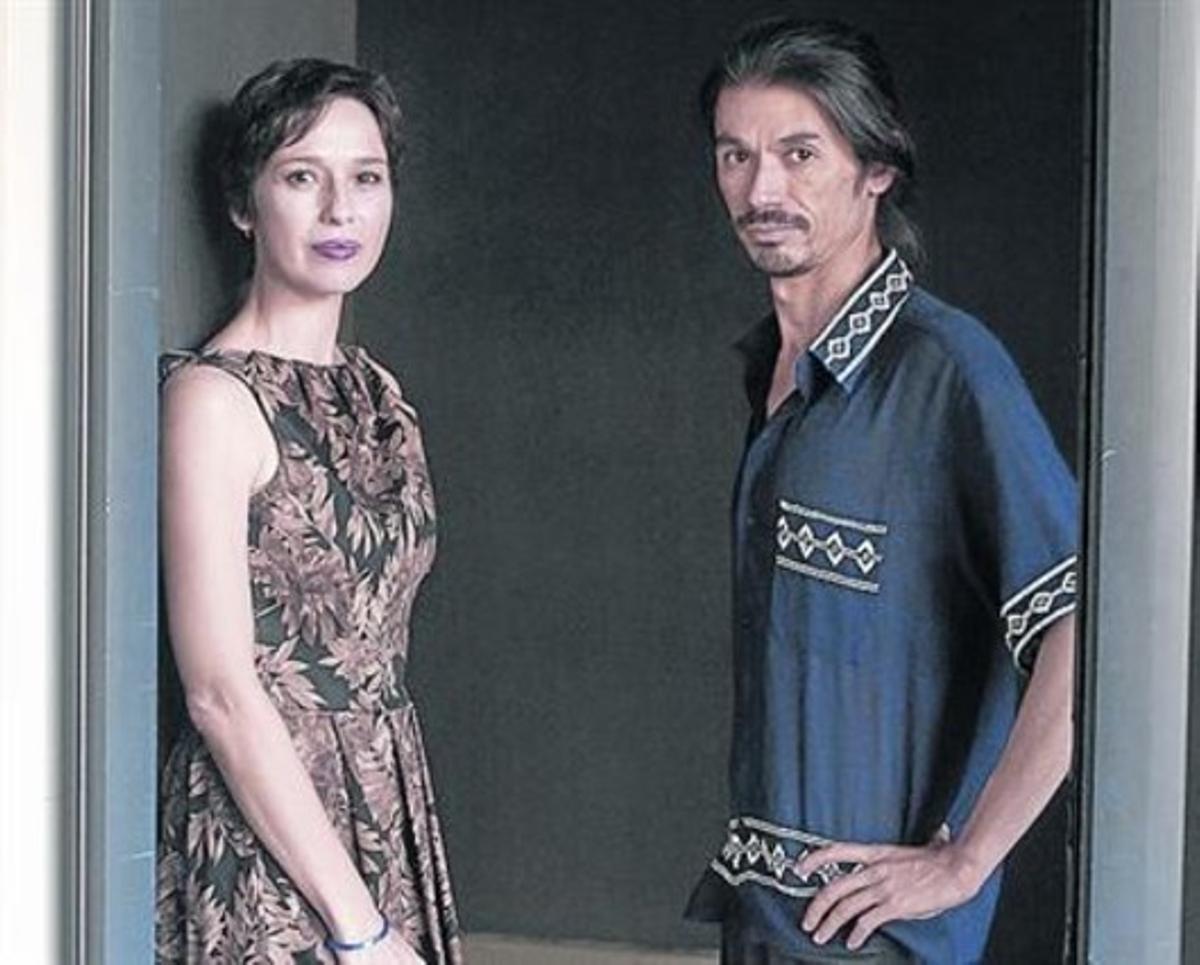 Ariadana Gil y André Cruz Shraiwa, ayer en el Festival de Sitges.