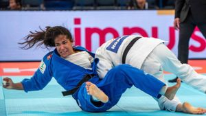 Cristina Cabañas, en el combate contra Tina Trstenjak.
