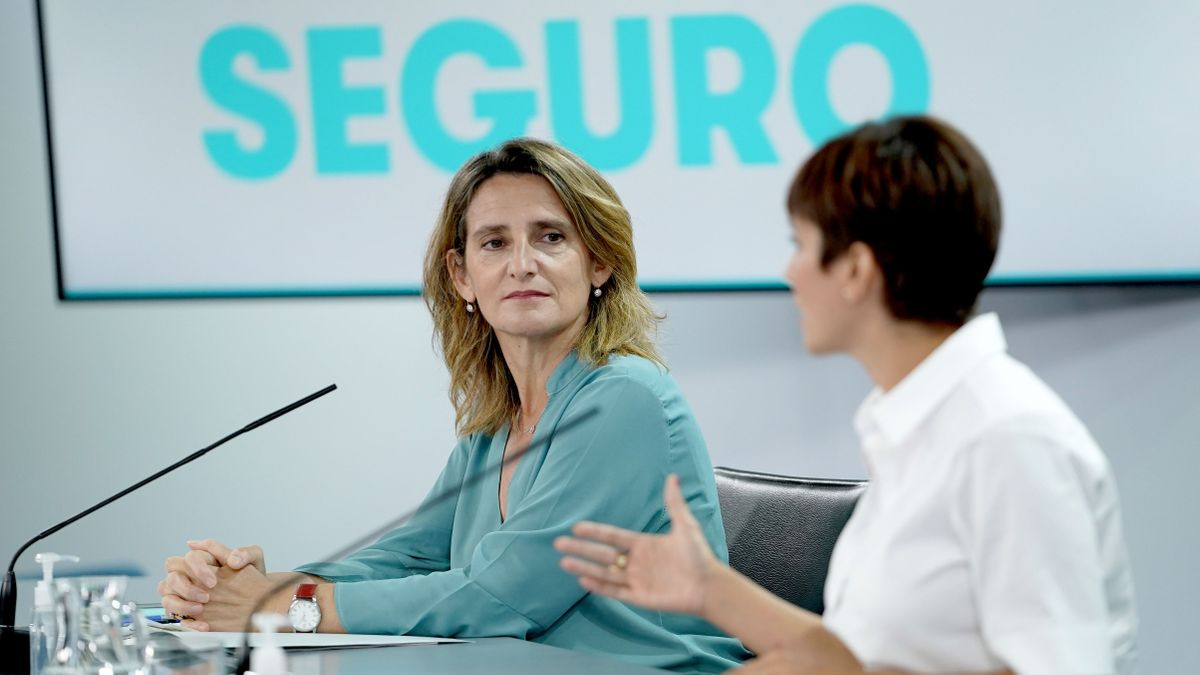 La ministra Teresa Ribera en rueda de prensa