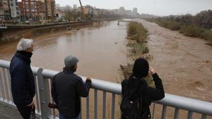 El temporal 'Gloria' deixa a Santa Coloma una espectacular crescuda del riu Besòs i inunda el parc fluvial
