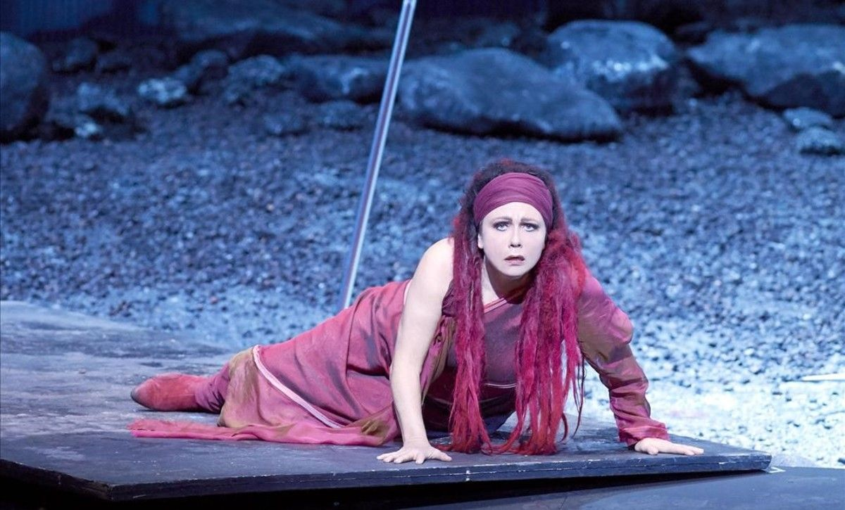 La soprano Claudia Barainsky, protagonista de la ópera 'Medea', de Aribert Reimann,representada en la Ópera Estatal de Viena.