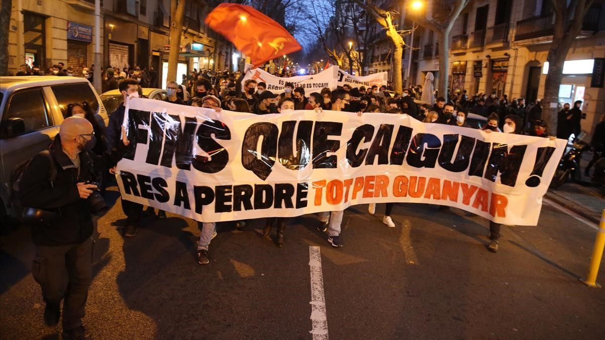 Manifestación en Barcelona el pasado día 22 de febrero.