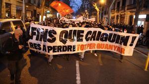 Manifestación en Barcelona este sábado.