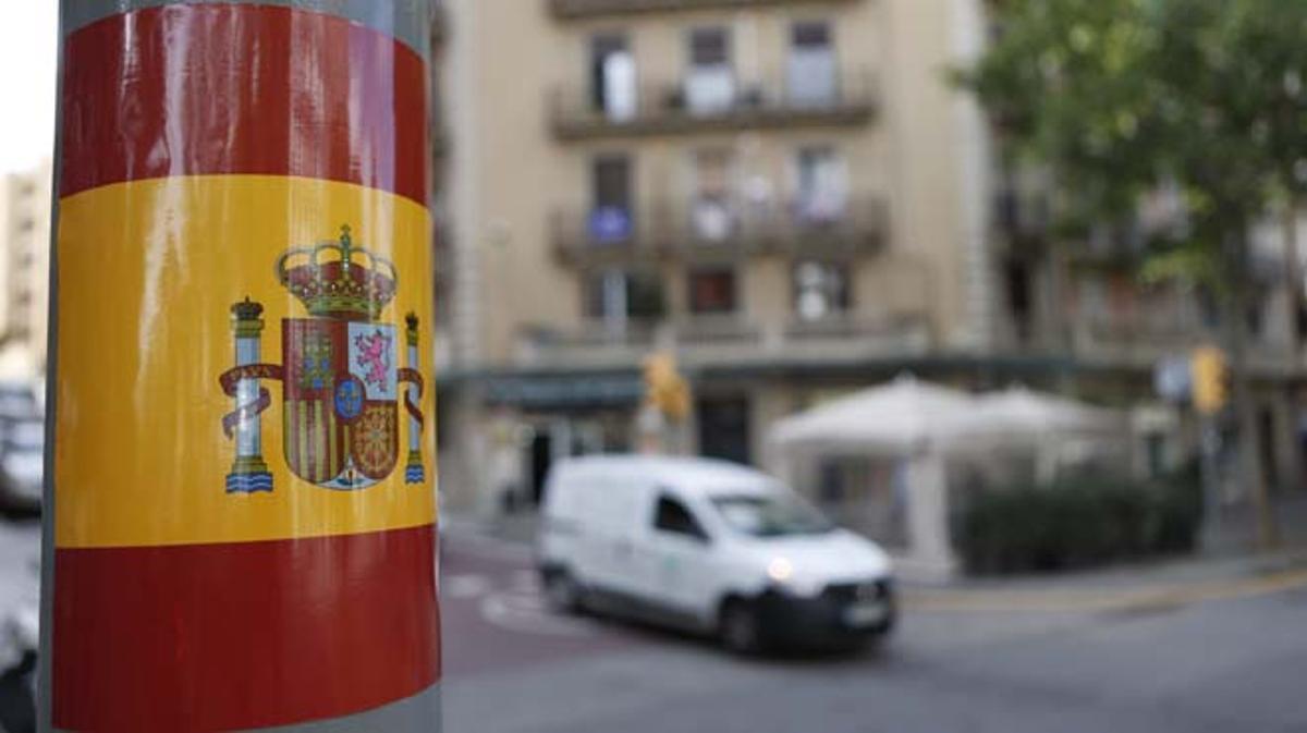 Han aparecido en edificios de Barcelona y poblaciones de su área metropolitana.