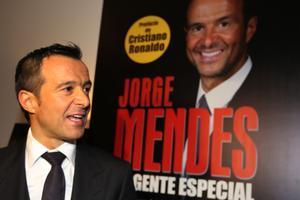 Jorge Mendes, durante la presentación del libro 'The Special Agent', con prólogo de Cristiano Ronaldo.