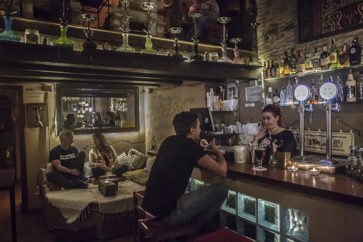 El bar Ziryab Cocktail & Sisha Lounge, en Barcelona, en una imagen de archivo.