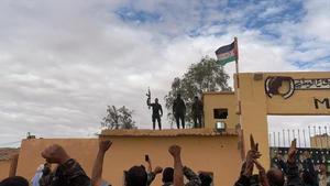 Simpatizantes del Frente Polisario en uno de los campos de refugiados saharauis en Rabuni, Argelia.