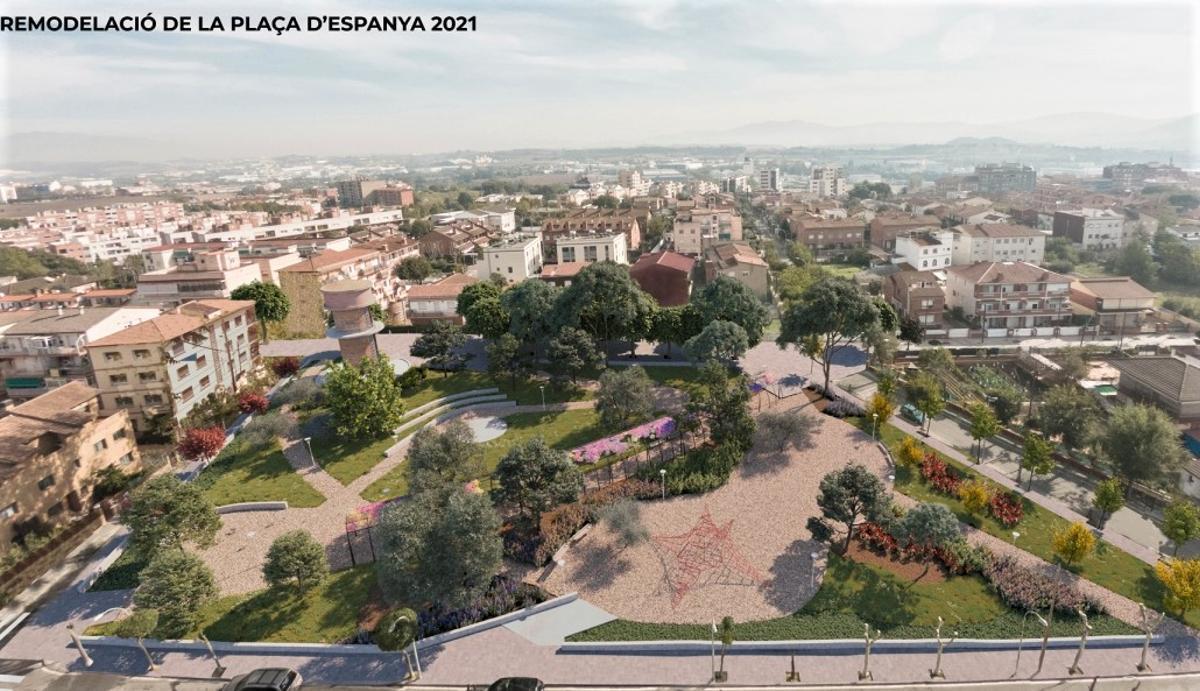 Parets del Vallès inicia las obras de remodelación de la plaza de Espanya.