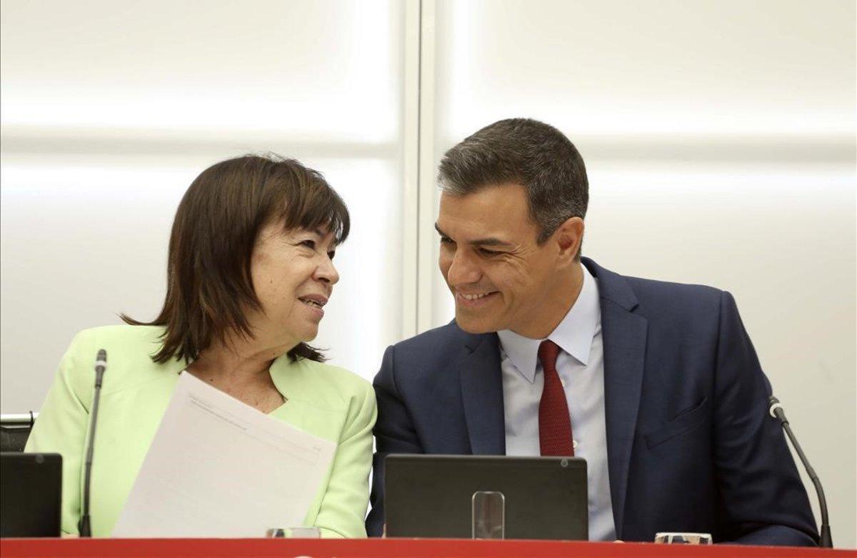 Pedro Sánchez y Cristina Narbon, en una imagen de archivo.
