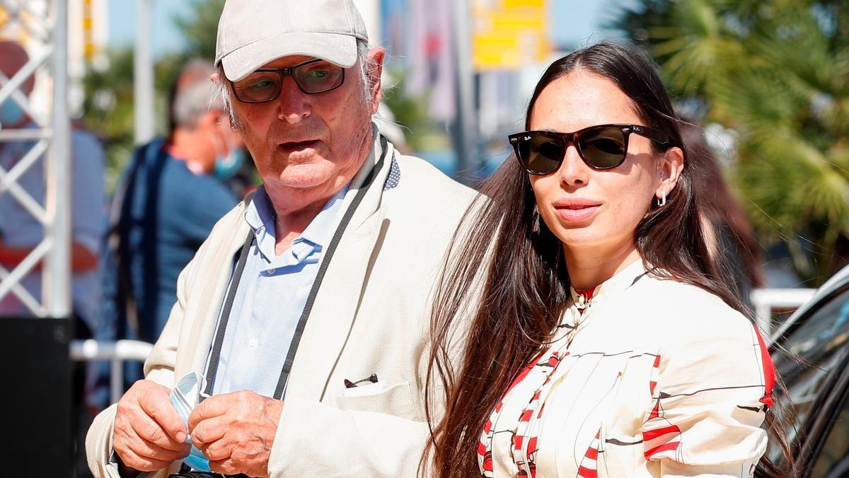 Carlos Saura y su hija Ana Saura, este viernes en San Sebastián