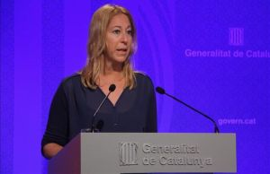 La 'consellera' de Presidencia yportavoz del Govern, Neus Munté.