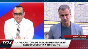 """Toni Cantó, dispuesto a fichar por 'Todo es mentira' tras dejar Ciudadanos: """"Iniciamos la negociación"""""""