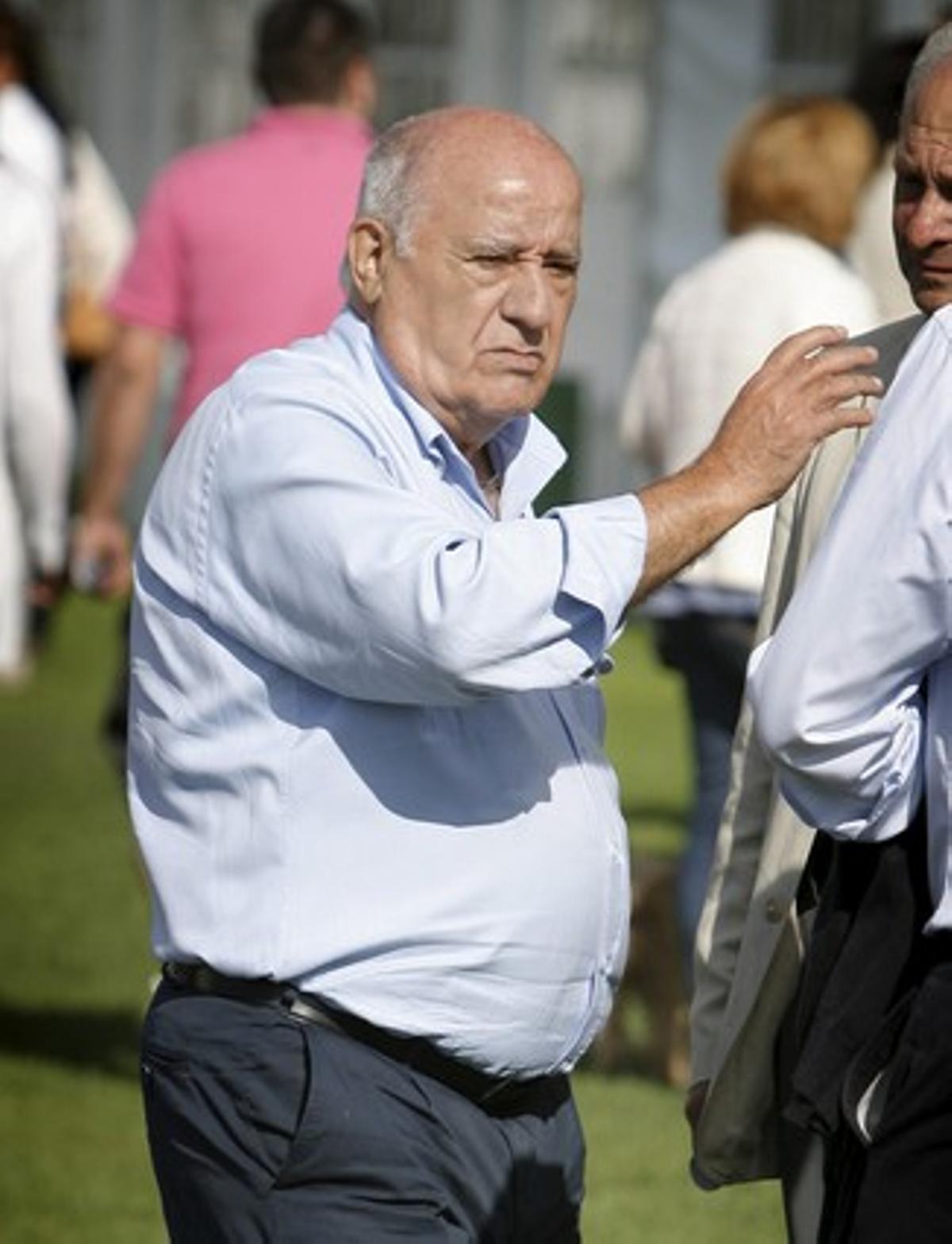 El fundador de Inditex, Amancio Ortega, durante un concurso hípico en el municipio coruñés de Arteixo, el pasado 28 de julio.