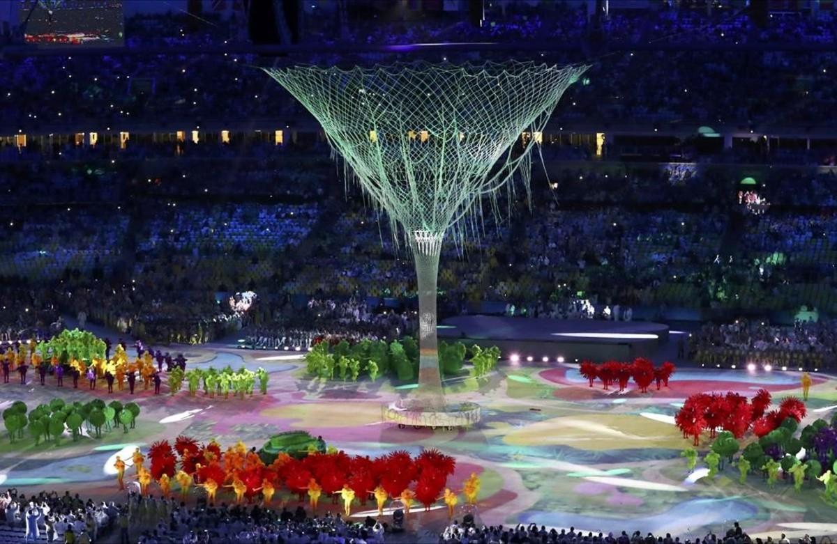 Un momento de la ceremonia de clausura en Río.